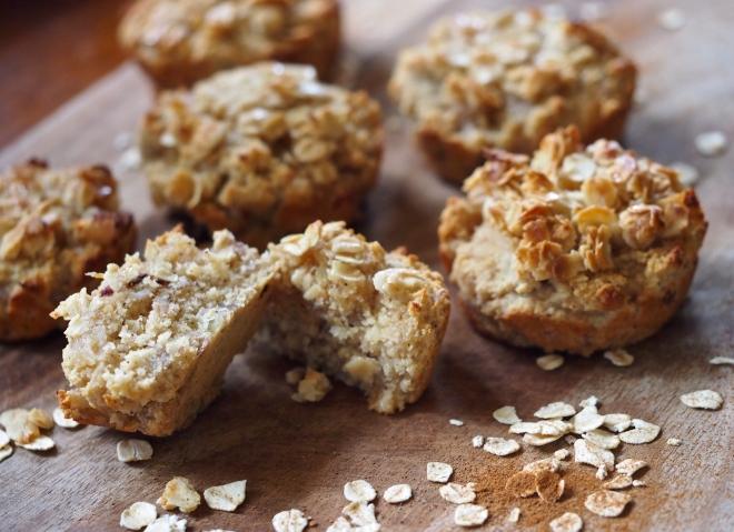 Caramelised Banana Oat Muffins